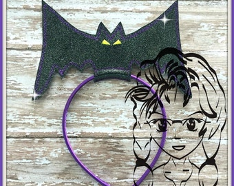 BAT Large Center Inspired ~ (1 Piece) Character Inspired Headband ~ In the Hoop ~ Downloadable DiGiTaL Machine Emb Design by Carrie