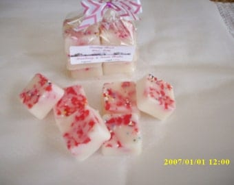 strawberry cream brulee wax melts,highly scented,wax warmers,wax  melters,wax tarts,candle tarts