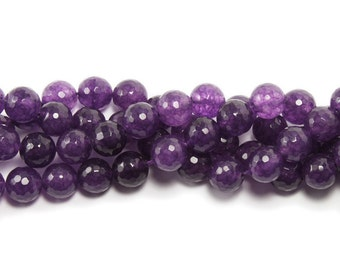 Purple (Dyed) Jade Faceted Gemstone Beads