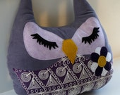 Violet the large Owl stuffed large pillow