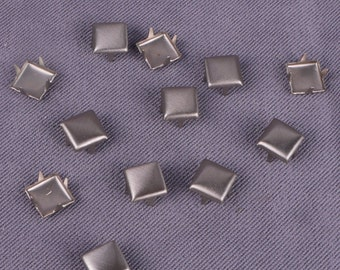 Silver Metal Square Stud 6mm -1000 Pieces (MS6SS-1000)