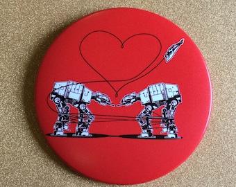 AT-AT Magnet - Red, Star Wars Magnet, Fridge Magnet, Refrigerator Magnets, Star Wars Gift, All Terrain Armored Transport, Star Wars Party