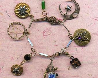 Hearts and Stars Bracelets delicate handmade charms,hearts, Valentines bracelet, delicate hearts,Love,charms, delicate stars, star bracelet