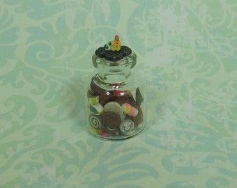 Dollhouse Miniature Large Jar of Christmas Candies