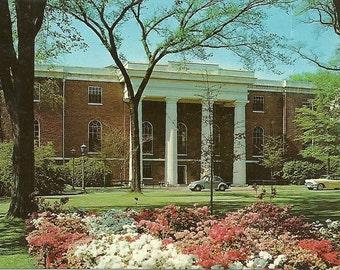 Vintage 1950s Postcard University of South Carolina Columbia Caroliniana Library Building Historic Photochrome Era Postally Unused