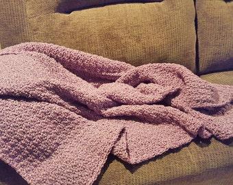 Handmade  soft purple blanket