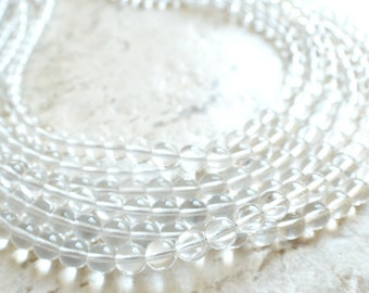 The Michelle- Clear Czech Glass Statement Necklace