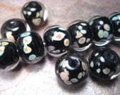 "buy-the-bead ""classic black raku"" (1) lampwork glass bead"