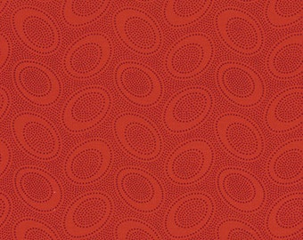 Aboriginal Dot in RED / Kaffe Fassett fabric 1/2 yard GP71 / Cotton Quilting fabric Fabric / Quilting Fabric Craft and Apparel fabric