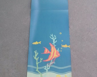 Vintage 1930s Wallpaper Schmitz Horning Scenic Art Panel Underwater Marine Life