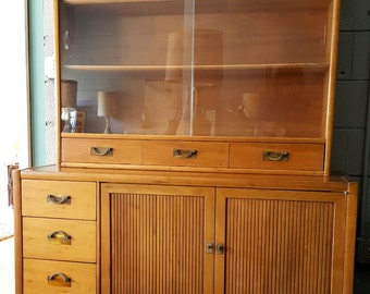 Mid Century Hickory Furniture Hutch Buffet