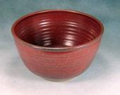 Medium Red Ceramic Bowl Hand Thrown Stoneware Pottery Bowl 2