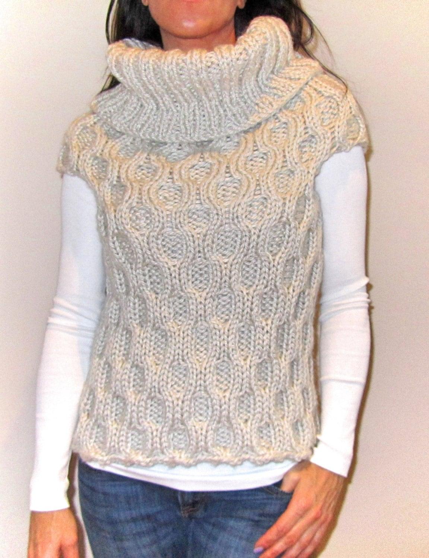 Sleeveless Cardigan Knitting Pattern : Chunky Sleeveless Sweater Knitting Pattern