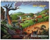 2017 Wall Calendar, Nostalgic Rural Farm Landscapes, Farm life Calendar, Folk Art Calendar, Rural Americana Calendar, Rustic, Country Life