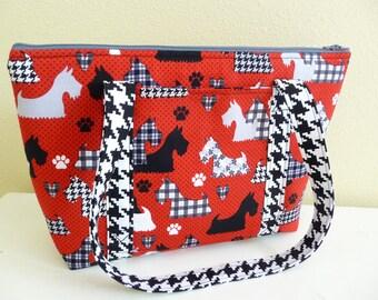 Red Scottie Dog Shoulder Bag, Scottish Terrier Purse