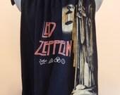 Led Zeppelin Zoso Upcycled Women's Tank Top T-shirt OOAK Shirt Summer Shirt, Festival top Upcycled Shirt,Tank Top, concert tshirt tank