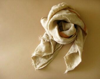 Bandana - linen and lambskin - cool neutral