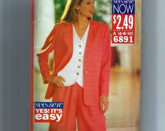 Butterick  Misses' Jacket, Top and Shorts Pattern 6891