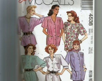 McCall's Misses' Blouse Pattern 4538