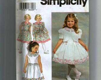 Simplicity Girls' Dress and Jacket Pattern 7028