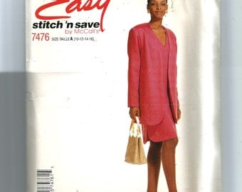 McCall's Misses'  Unlined Jacket and Dress  Pattern 7476
