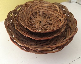 Round Nesting Baskets / Set of Four / Small / Philippines