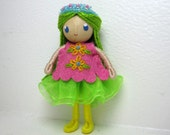 Ballerina Bendy Doll by Princess Nimble-Thimble- Ballet Dancer, Dance, Recital, Tutu doll, Small Miniature Bendable Felt Waldorf Ballerina