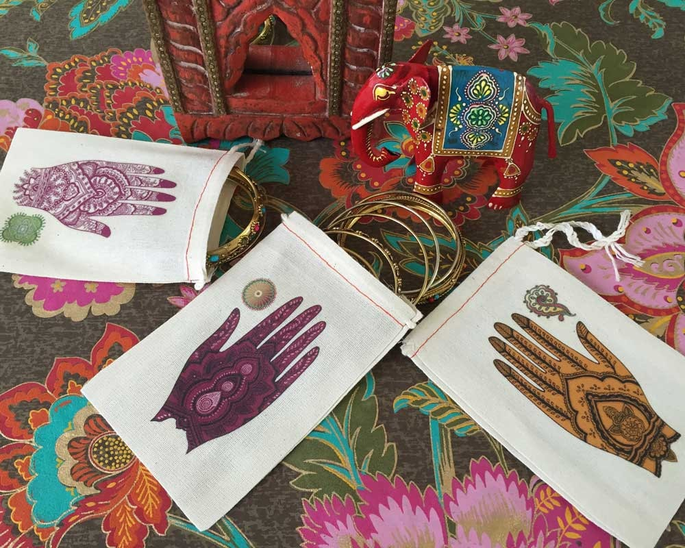 Mehndi Party Checklist : Mehndi ceremony wedding party favor bags south asian