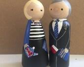 Mormon Missionary -- Custom Hand-painted Peg Doll