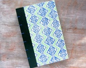 Journal Sketchbook 1974 Vintage Readers Digest - Green and Blue Coptic - Ready to Ship