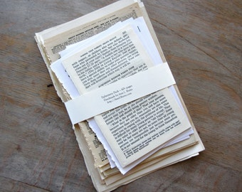 Decoupage Craft Papers, Collage Pack of mostly vintage book pages, Ready to Ship