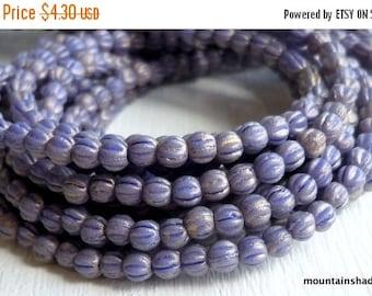 10% OFF Melon Beads 3mm  - Premium Czech Glass Melon Beads - Pacifica - Elderberry - 100 beads (G - 392)
