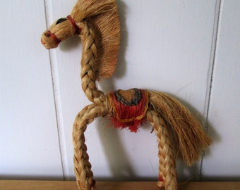 vintage kitschy bendy rop horse