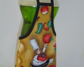 Fat French Chef Cook Dish Soap Apron Bottle Cover Wrap Staffer Party Favor Lg