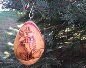 Whimsy Winter Fox Tree Ornament egg gourd