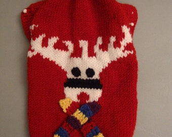 pet dog warm winter sweater - measure made for a perfect fit - other colors are possible