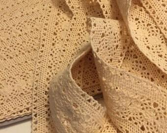Crochet Style  Cotton Lace 3 Yards