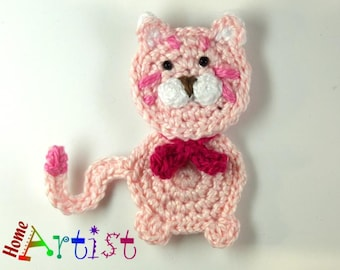 Crochet Applique Cat