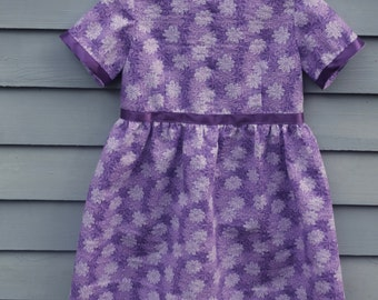 Toddler dress in shades of purple, size 2/3.