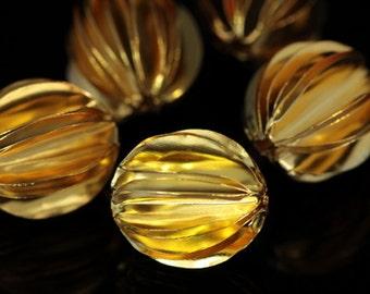 KG-521 thai karen hill tribe silver 1 gold vermeil michelia flower bead