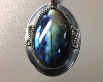 Sterling Silver Pendant w/ Labradorite
