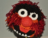 Crochet Animal the Muppet Hat - Cartoon Costume Hat - Muppets - Silly and Chunky Crochet Hat