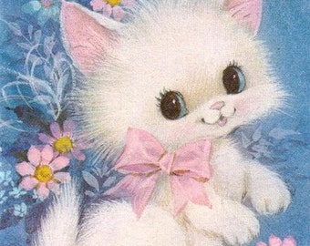 Spring Kitty Cross Stitch Pattern PDF