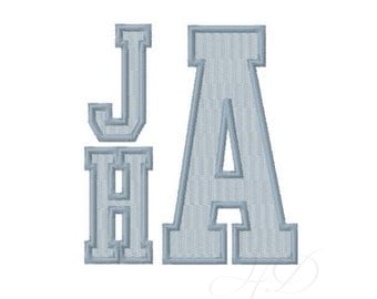 Sale package 4 sizes includes letters and numbers Varsity Sports Embroidery Monogram Font Satin stitch Instant Download