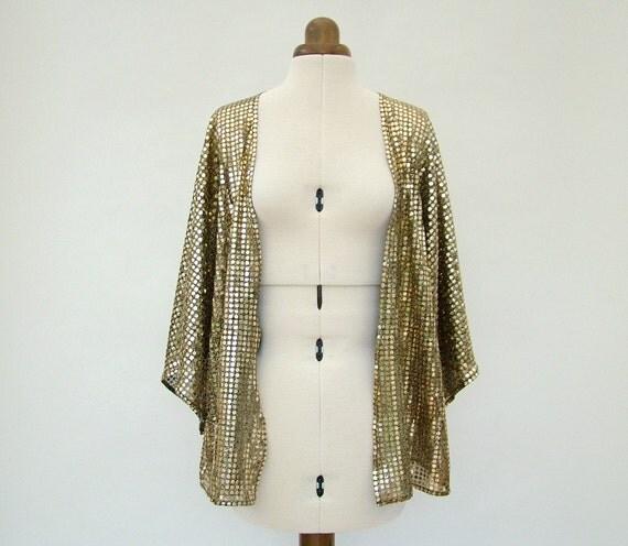 Gold kimono Kimono Jacket gold sparkly summer fashion