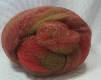 CLEARANCE  Yarn Hollow Foxy Batts Mixed Up Bits of Everything, Stripey Colors that are a Blast to Spin - Foxy Batt No 4-25