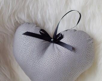 Mini Metallic Heart Pillow