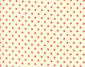 Chestnut Street - Polka Dot in Milk and Pomegranate: sku 20276-24 cotton quilting fabric by Fig Tree and Co. - Moda Fabrics - 1 yard