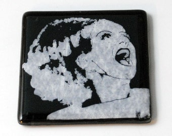 Bride of Frankenstein Fused Glass Coaster