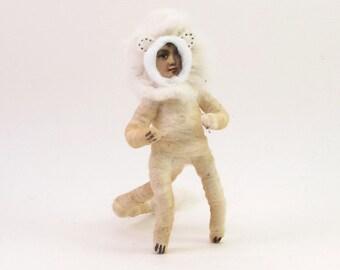 Spun Cotton Vintage Style Lion Boy Figure/Ornament